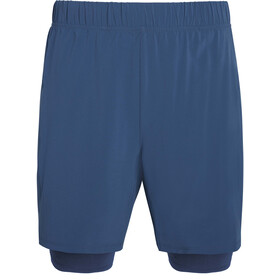 "saucony Doubleback 7"" 2-1 Shorts Men, azul"
